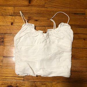 Zara cotton ruffle top cami